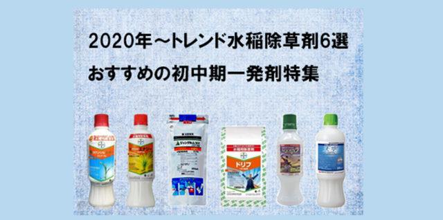 2020年おすすめ水稲初中期一発剤 アイキャッチ